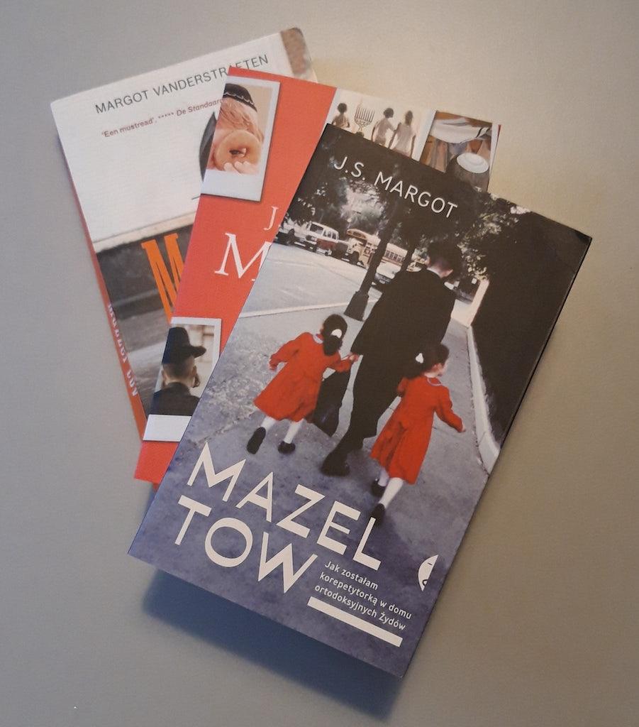 Nederlandstalige editie van 'Mazzel tov' en twee vertalingen