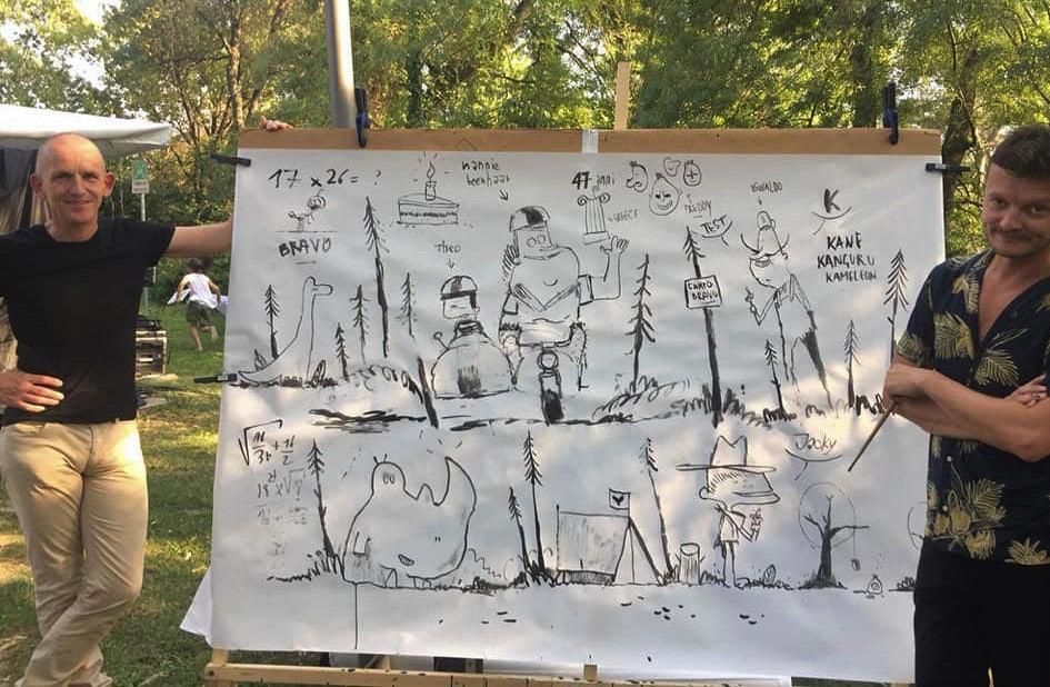 Stefan Boonen en Melvin op festival Libr'Aria 2019