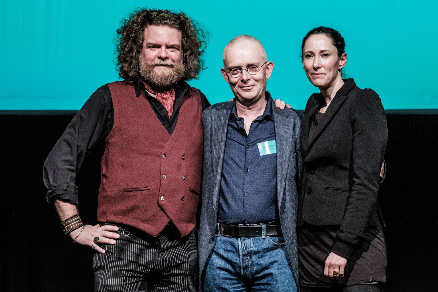 Jeroen Olyslaegers, Koen Van Bockstal en Saskia De Coster