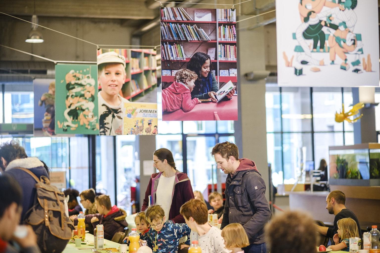 Slotfeest Jeugdboekenmaand bibliotheek Permeke