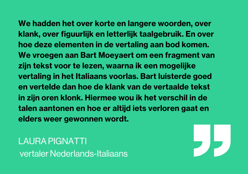 Quote Laura Pignatti - Vertaaldagen - Bart Moeyaert