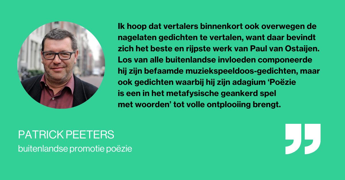 Quote Patrick Peeters Paul Van Ostaijen
