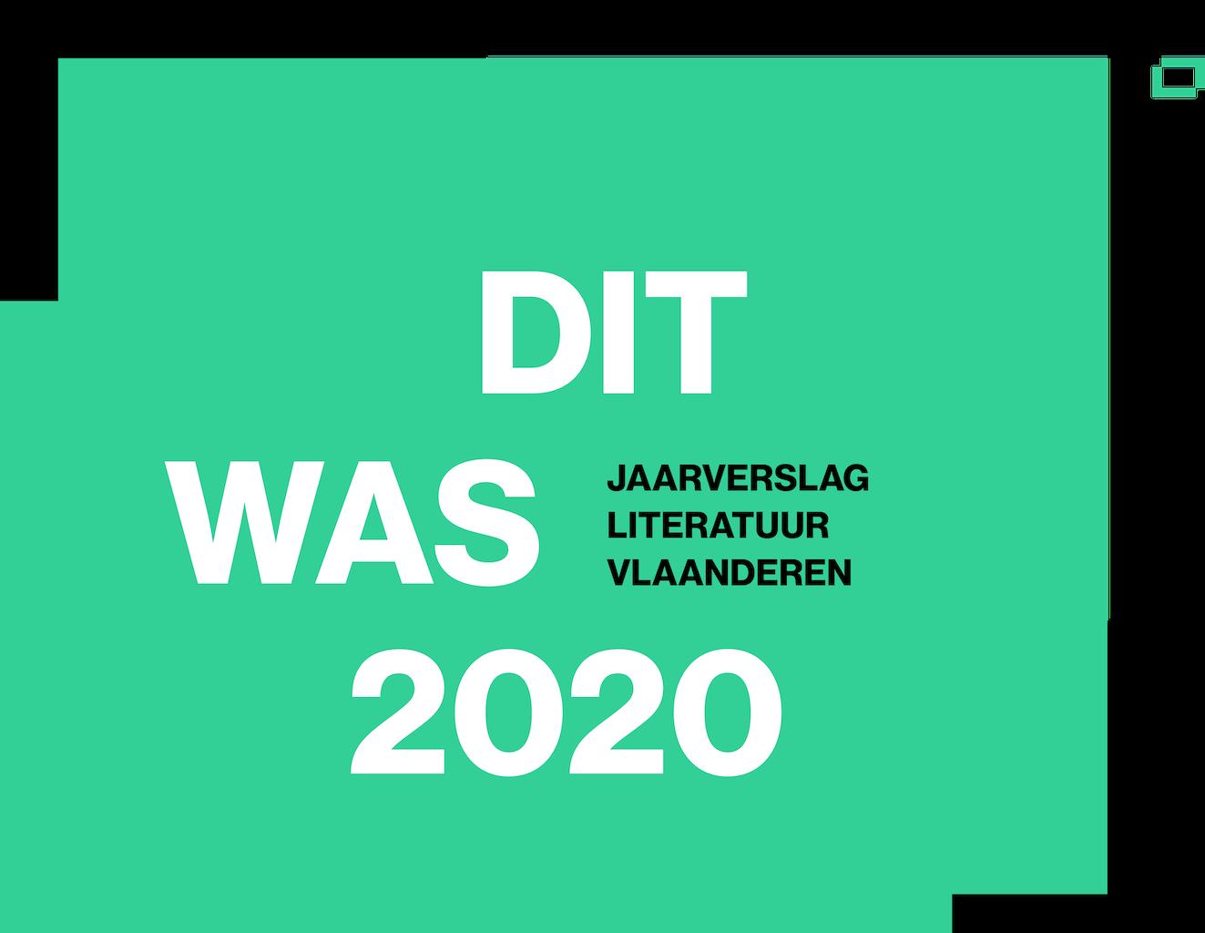 cover Jaarverslag Literatuur Vlaanderen 2020